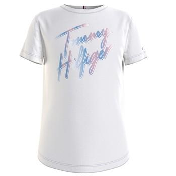Ruhák Lány Rövid ujjú pólók Tommy Hilfiger KG0KG05870-YBR Fehér