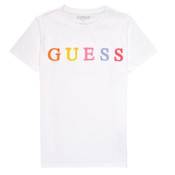 Ruhák Lány Rövid ujjú pólók Guess H1RJ04-K8HM0-TWHT Fehér