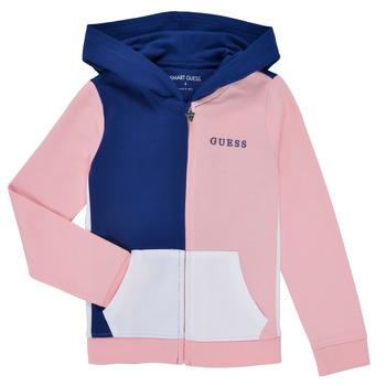 Ruhák Lány Pulóverek Guess K1RQ00-KA6R0-F672 Fehér / Rózsaszín