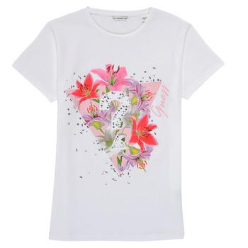 Ruhák Lány Rövid ujjú pólók Guess J1RI24-K6YW1-TWHT Fehér