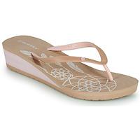 Cipők Női Lábujjközös papucsok Isotoner FRADA Bézs