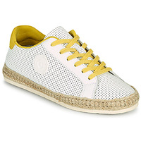 Cipők Női Gyékény talpú cipők Pataugas PALOMA F2F Fehér / Citromsárga