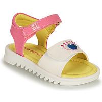 Cipők Lány Szandálok / Saruk Agatha Ruiz de la Prada SMILEY Fehér / Rózsaszín
