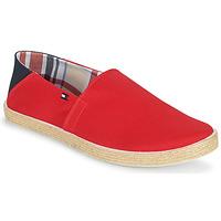 Cipők Férfi Gyékény talpú cipők Tommy Hilfiger EASY SUMMER SLIP ON Piros