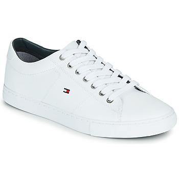 Cipők Férfi Rövid szárú edzőcipők Tommy Hilfiger ESSENTIAL LEATHER SNEAKER Fehér