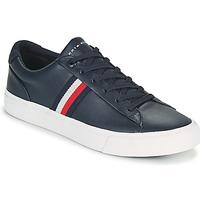 Cipők Férfi Rövid szárú edzőcipők Tommy Hilfiger CORPORATE LEATHER SNEAKER Tengerész