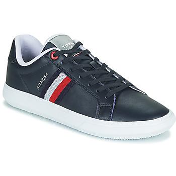 Cipők Férfi Rövid szárú edzőcipők Tommy Hilfiger ESSENTIAL LEATHER CUPSOLE Tengerész