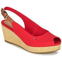 Cipők Női Szandálok / Saruk Tommy Hilfiger ICONIC ELBA SLING BACK WEDGE Narancssárga