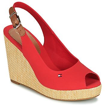 Cipők Női Szandálok / Saruk Tommy Hilfiger ICONIC ELENA SLING BACK WEDGE Narancssárga