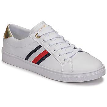 Cipők Női Rövid szárú edzőcipők Tommy Hilfiger TH CORPORATE CUPSOLE SNEAKER Fehér