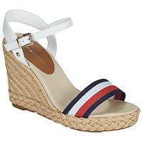 Cipők Női Szandálok / Saruk Tommy Hilfiger SHIMMERY RIBBON HIGH WEDGE Fehér