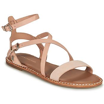 Cipők Női Szandálok / Saruk Tommy Hilfiger ESSENTIAL TOMMY FLAT SANDAL Konyak