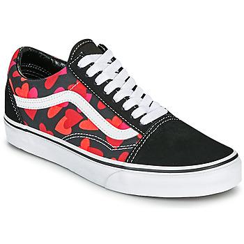 Cipők Női Rövid szárú edzőcipők Vans OLD SKOOL Fekete  / Piros