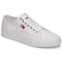 Cipők Férfi Rövid szárú edzőcipők Tommy Jeans LONG LACE UP VULC Fehér
