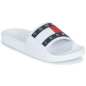 Cipők Női strandpapucsok Tommy Jeans TOMMY JEANS FLAG POOL SLIDE Fehér