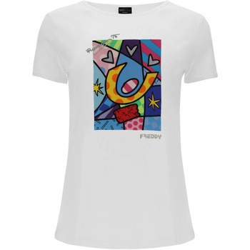 Ruhák Női Rövid ujjú pólók Freddy F0WBRT1 Fehér
