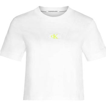 Ruhák Női Pólók / Galléros Pólók Calvin Klein Jeans J20J214148 Fehér