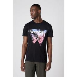 Ruhák Férfi Pólók / Galléros Pólók Wrangler T-shirt  Cowboy Cool noir