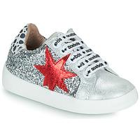 Cipők Lány Rövid szárú edzőcipők Acebo's 5461GL-PLATA-J Ezüst