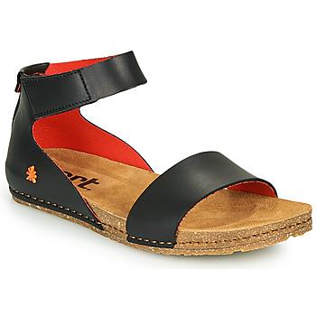 Cipők Női Szandálok / Saruk Art CRETA Fekete  / Piros