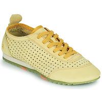 Cipők Női Rövid szárú edzőcipők Art KIOTO Citromsárga