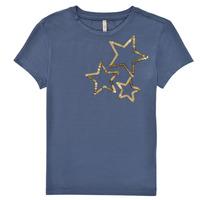 Ruhák Lány Rövid ujjú pólók Only KONMOULINS STAR Kék