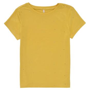 Ruhák Lány Rövid ujjú pólók Only KONMOULINS Citromsárga