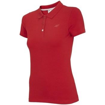 Ruhák Női Rövid ujjú galléros pólók 4F TSD008 Piros
