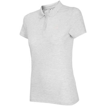 Ruhák Női Rövid ujjú galléros pólók 4F TSD007 Fehér