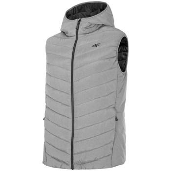 Ruhák Férfi Steppelt kabátok 4F KUMP002 Szare