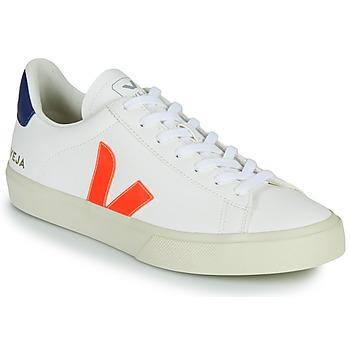 Cipők Rövid szárú edzőcipők Veja CAMPO Fehér / Narancssárga / Kék