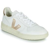 Cipők Női Rövid szárú edzőcipők Veja V-10 Fehér / Arany