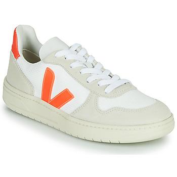 Cipők Rövid szárú edzőcipők Veja V-10 Fehér / Narancssárga