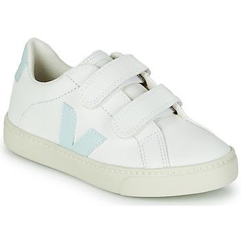 Cipők Lány Rövid szárú edzőcipők Veja SMALL ESPLAR VELCRO Fehér / Kék / Piros