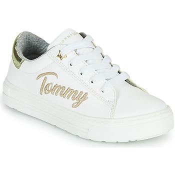 Cipők Lány Rövid szárú edzőcipők Tommy Hilfiger SOFI Fehér