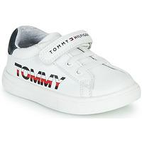 Cipők Gyerek Rövid szárú edzőcipők Tommy Hilfiger MARILO Fehér