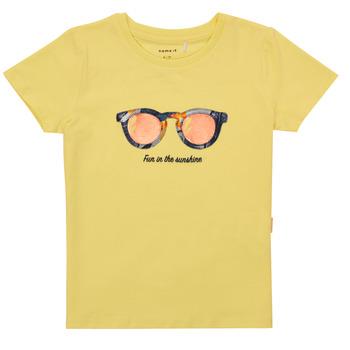 Ruhák Lány Rövid ujjú pólók Name it NMFFISUMMER Citromsárga