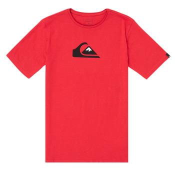 Ruhák Fiú Rövid ujjú pólók Quiksilver COMP LOGO Piros