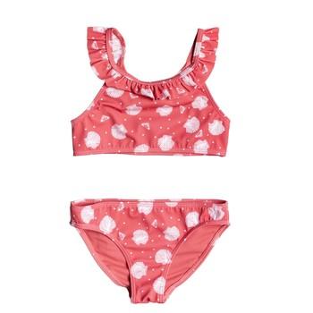 Ruhák Lány 2 részes fürdőruhák Roxy TEENY EVERGLOW CROP TOP SET Rózsaszín