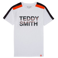 Ruhák Fiú Rövid ujjú pólók Teddy Smith T-MACK Fehér