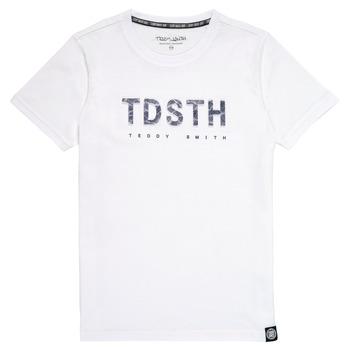 Ruhák Fiú Rövid ujjú pólók Teddy Smith T-MAX Fehér