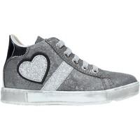 Cipők Gyerek Magas szárú edzőcipők Naturino 2014191 01 Ezüst