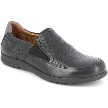 Cipők Férfi Mokkaszínek Grunland SC4449 Fekete