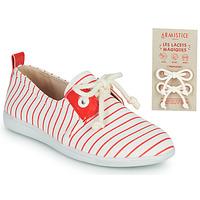 Cipők Gyerek Rövid szárú edzőcipők Armistice STONE ONE Fehér / Piros