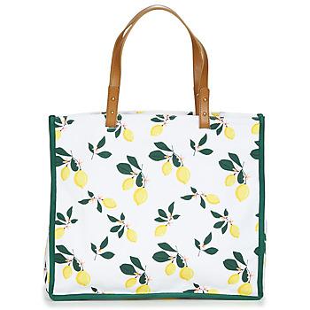 Táskák Női Bevásárló szatyrok / Bevásárló táskák Petite Mendigote CLEA LEMON Fehér