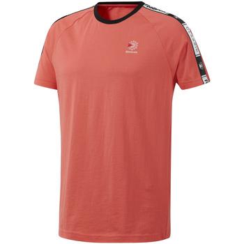 Ruhák Férfi Rövid ujjú pólók Reebok Sport DT8145 Rózsaszín