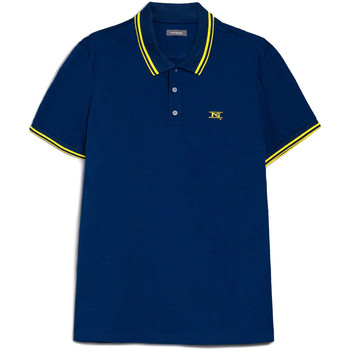 Ruhák Férfi Rövid ujjú galléros pólók Nero Giardini E072370U Kék