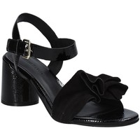 Cipők Női Szandálok / Saruk Elvio Zanon EJ5605P.L Fekete