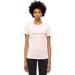 Ruhák Női Rövid ujjú pólók Calvin Klein Jeans J20J208606 Rózsaszín