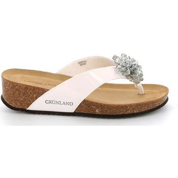 Cipők Női Lábujjközös papucsok Grunland CB2482 Fehér